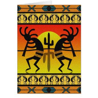 Het Dansen Kokopelli van het Ontwerp van het Briefkaarten 0