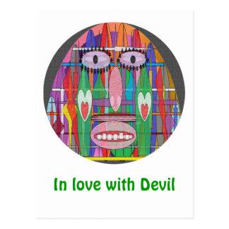 Het dansen met Duivel Briefkaart