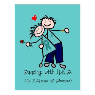 Het dansen met Ovariale Kanker N.E.D. Briefkaart