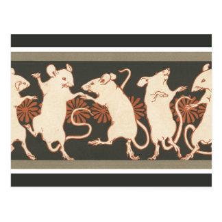 Het dansen Muizen Briefkaart