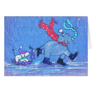 Het dansen op Ijs Briefkaarten 0