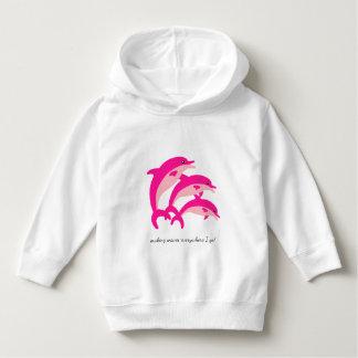 Het dansen Roze Dolfijnen Hoodie