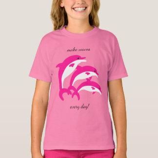 Het dansen Roze Dolfijnen T Shirt