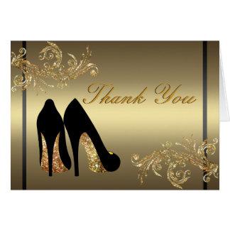 Het dansen schoenen de aanpassing dankt u kaardt kaart