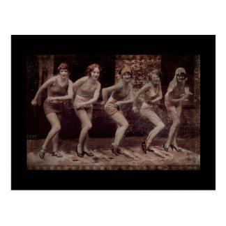 Het Dansen van de Vinnen van het Meisje van Glam Briefkaart