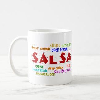 Het Dansen van Salsa de Bewegingen en de Termijnen Koffiemok