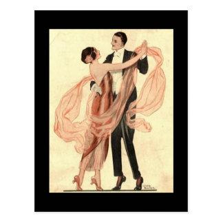 Het Dansende Briefkaart van het Paar vintage