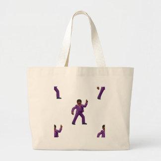 Het Dansende Man van Emoji Grote Draagtas