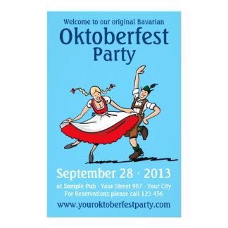 Het Dansende Paar van de Partij van Oktoberfest va Gepersonaliseerde Folder