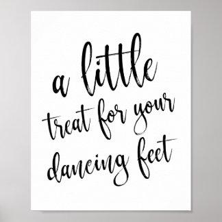 Het dansende Teken van de Schoenen van Schoenen Poster