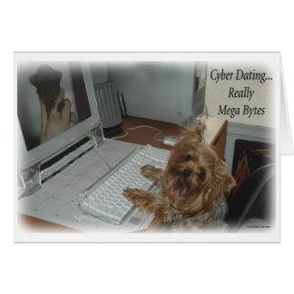 Het Dateren van Cyber van Yorkie Briefkaarten 0