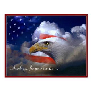 Het de Amerikaanse Vlag van de Dag van veteranen Briefkaart