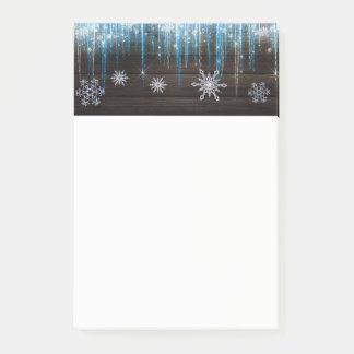 Het de bevroren Sneeuwvlokken & Hout van het Post-it® Notes