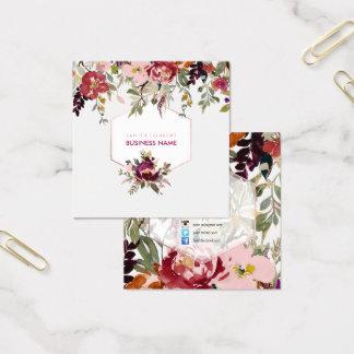 Het de BloemenWaterverf van PixDezines/Boeket van Vierkante Visitekaartjes