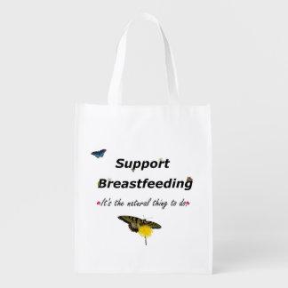 Het De borst geven van de steun natuurontwerp Boodschappentassen