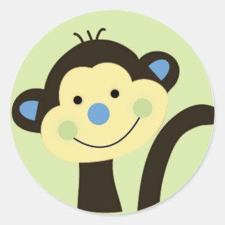 het de dierlijke sticker/etiket van de parkaap ronde sticker