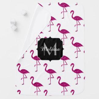 Het de flamingoRoze van Sparkly fonkelt Inbakerdoek