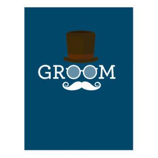 Het de grappige Snor & Pet van de Bruidegom voor Briefkaart