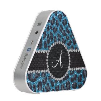 Het de hemelblauw van het monogram schittert speaker