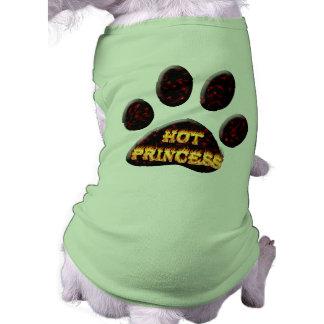 Het de hete brand van de Prinses en overhemd van d Mouwloos Hondenshirt