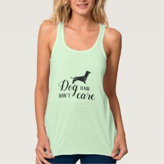 Het de hondhaar van Doxie geeft niet grappig groen Tanktop