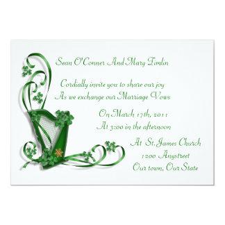 Het de Ierse van de de uitnodigingsHarp van het Kaart
