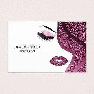 Het de kunstenaarsvisitekaartje van de make-up met visitekaartjes
