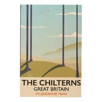 Het de reisposter van Chilterns Groot-Brittannië Hout Print