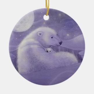 Het de zachte Ijsbeer van de Winter en Ornament