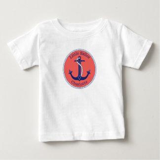 Het de zeevaart Marine en Koraal van het Anker Baby T Shirts