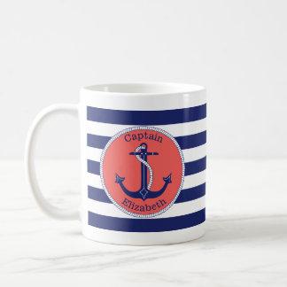 Het de zeevaart Marine & Koraal van het Anker Koffiemok