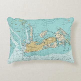 Het de zeevaartGrafiek van Key West en Hoofdkussen Accent Kussen