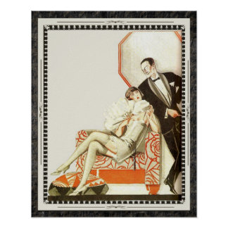 Het decadente Paar van de Avantgarde van het jaren Poster