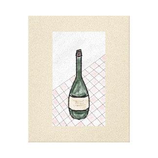 Het Decor van Vino Canvas Afdruk