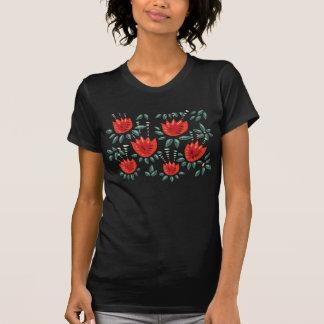 Het decoratieve Abstracte Rode Donkere T Shirt