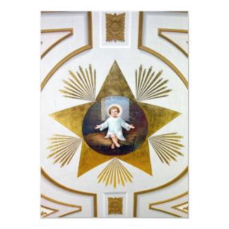Het decoratieve kunstwerk van Jesus van het baby 12,7x17,8 Uitnodiging Kaart