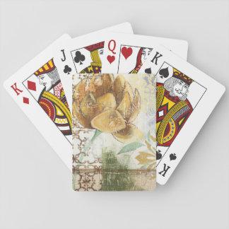 Het decoratieve Ontwerp van de Fresko met de Bloem Pokerkaarten