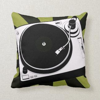 Het deejay van de de muziekdraaischijf van DJ Sierkussen
