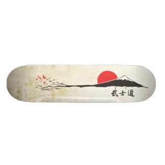 Het dek van Bushido Skateboard Deck