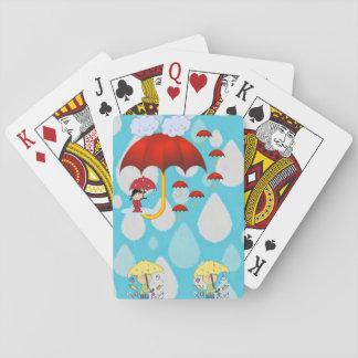 Het Dek van de Speelkaart van wolken Pokerkaarten