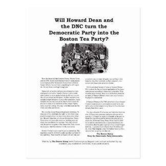 Het democratische Partij of Theekransje van Boston Briefkaart