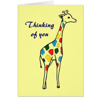 Het denken aan u girafkaart briefkaarten 0