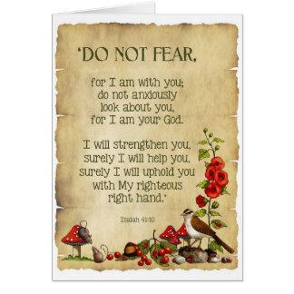 Het denken aan u: Het 41:10 van Isaiah, het Wenskaart