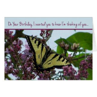 Het denken aan u op Uw Verjaardag Briefkaarten 0