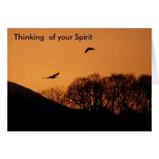 Het denken aan uw Geest Wenskaart
