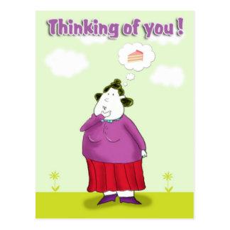 het denken aan you_ briefkaart