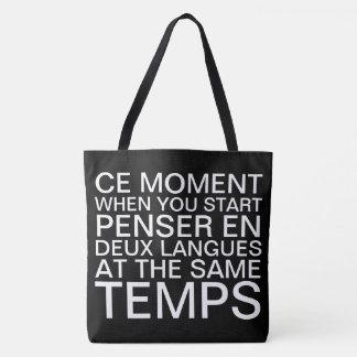 Het denken in het Frans en het Engels Draagtas