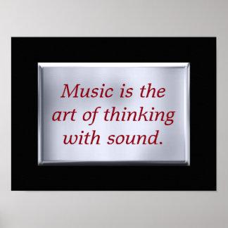 Het denken met geluid - kunstdruk poster