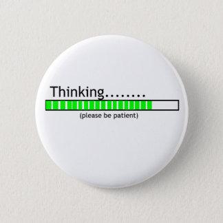 Het denken…. ronde button 5,7 cm