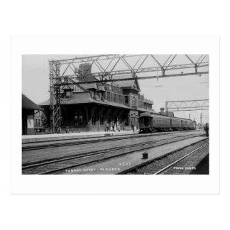 Het Depot van de tunnel, Haven Huron, Michigan - Briefkaart